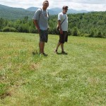 A buddy and I enjoying the weather at Hubbardton